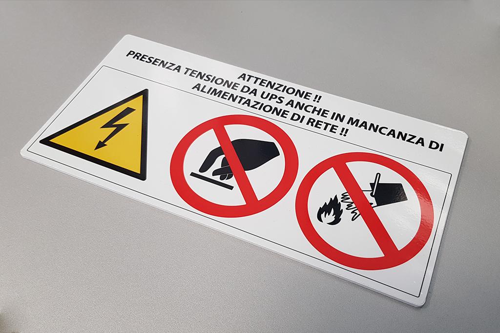 targa segnaletica realizzata in Forex
