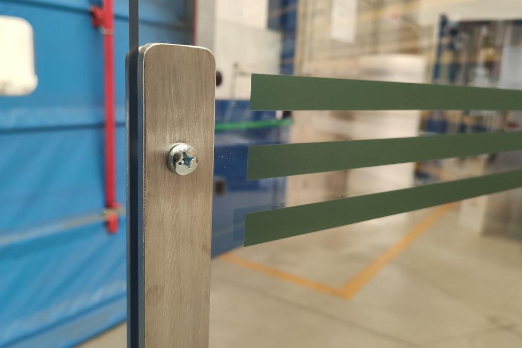 barriera protettiva per reparti di produzione dettaglio righe